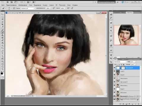 Урок Adobe Photoshop #34 | Рисунок акварелью
