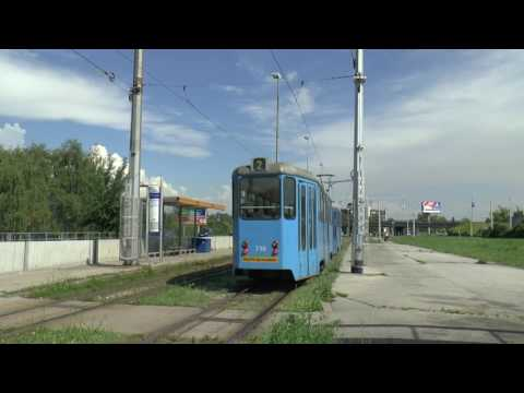 ZAGREB TRAMS MAY 2017 BY BUS STATION