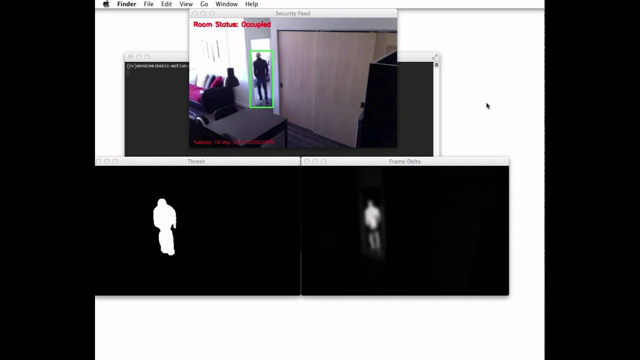 Basic motion and tracking detection using Python and OpenCV (Part 2)