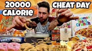 20000 Calorie Challenge - Relax Cheat day - MAN VS FOOD