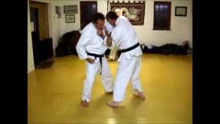 Tom Hill's Karate Dojo; Controling The Grab, Bong Sau Block, Short Rib Punch & Neck Crank Takedown
