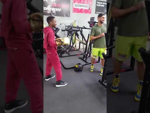 Amir Khan Gives  His Custom Snake Skin Gloves to 12 Yr. Old Mickel Spencer at Virgil Hunter Gym
