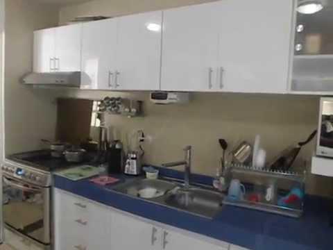 Cocina blanco y azul youtube - Cocinas azules y blancas ...