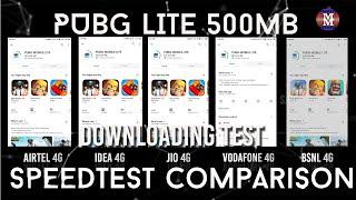 Jio vs Vodafone vs Airtel vs Idea vs BSNL 4G | PUBG LITE Download Test (500mb) | Grand 4G Test| 2020
