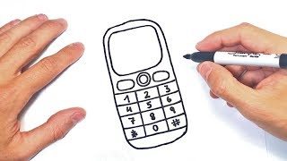 Como dibujar un Telefono Movil o Celular