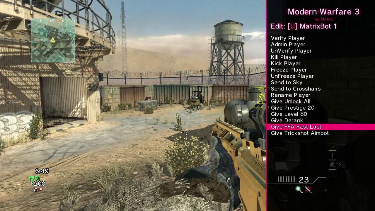 Matrix Mod's MW3 Menu! (BEST MW3 MENU!) - YouTube