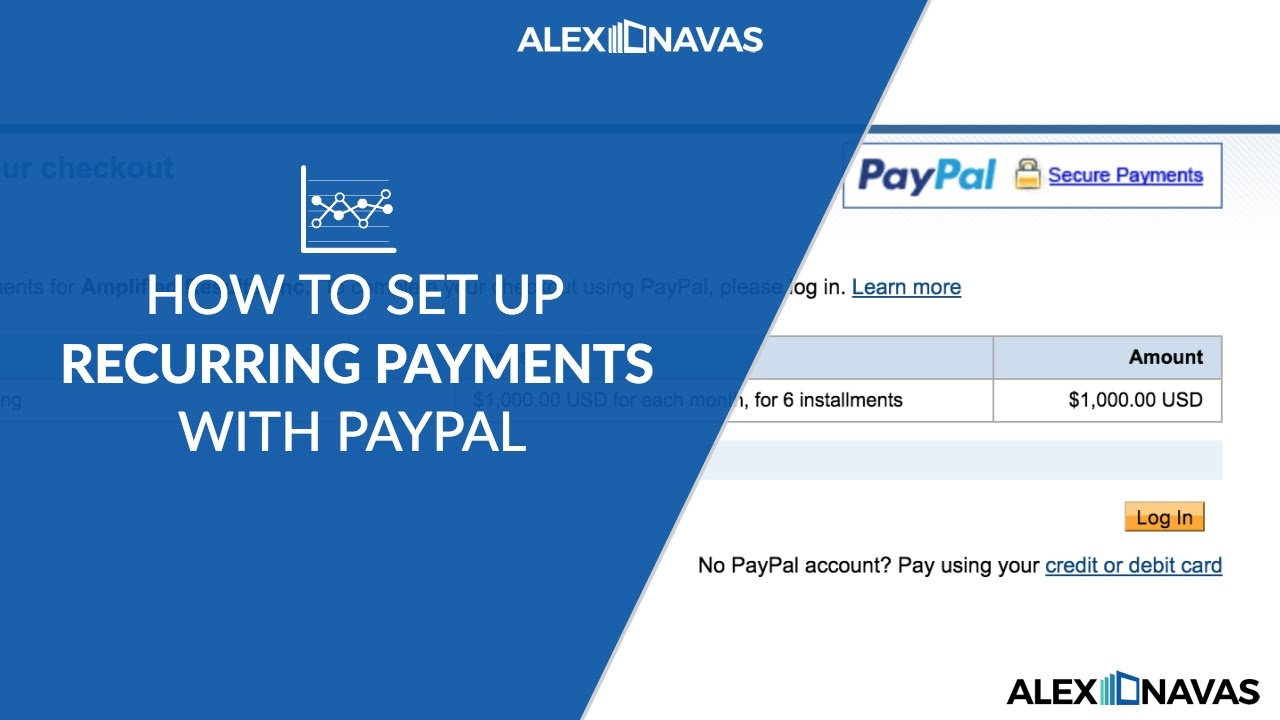 Service Clientèle Paypal How To Setup Recurring Payments In Paypal