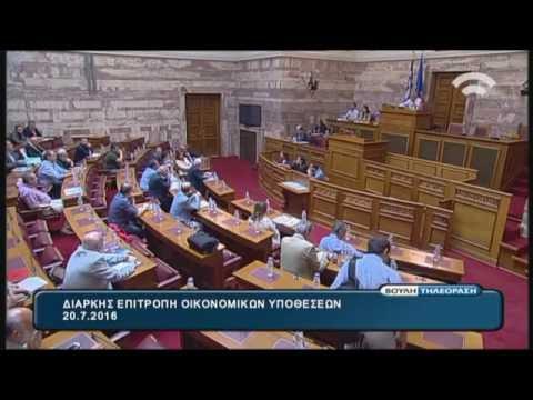 Διαρκής Επιτροπή Οικονομικών Υποθέσεων 20/07/2016  Λαθρεμπόριο Καπνού