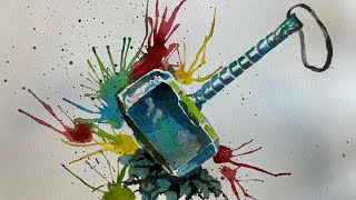 Thor's Hammer Watercolor Paint…