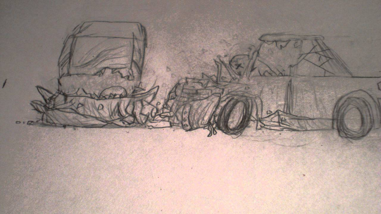 Hand Drawn Animation - Car Crash - YouTube