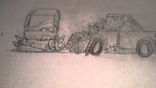 Hand Drawn Animation - Car Crash