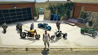 GTA 5 - Stealing Luxury Motorcycles with Franklin! (Expensive Rare Motorcycles)