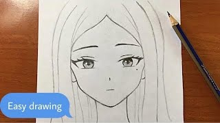 Easy anime drawing | h๐w to draw anime girl easy step-by-step