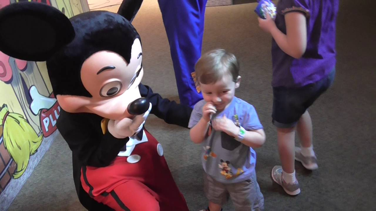 Image result for children crying when meeting mickey