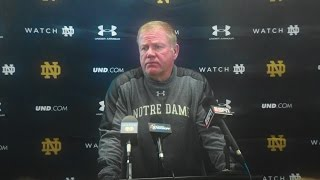 Notre Dame Football Post Game Press Conference - North Carolina State