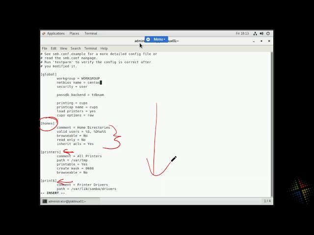 Configuring Samba on Centos7