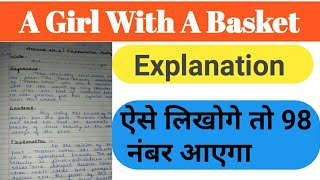A Girl With a basket  (Explanation PART-1) CLASS-12th BY PATHAK SIR