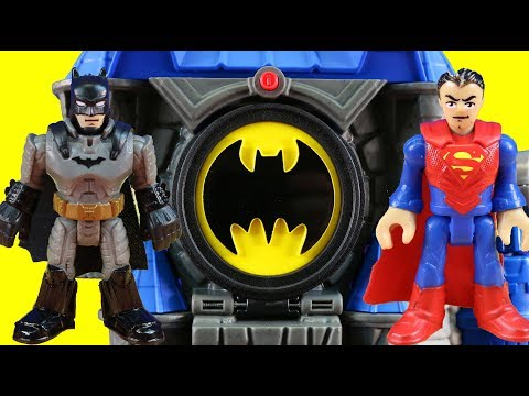 Imaginext Wayne Manor Batcave Toy Review + Justice League & Batman Put Joker In Jail