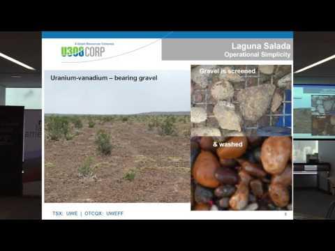 Dr. Richard Spencer presenting for U3O8 Corp. at mineLatinAmerica