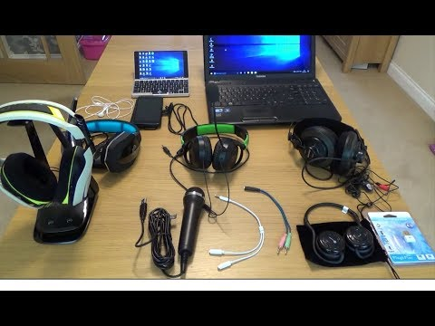 How To Connect Various Headsets To A PC / Laptop
