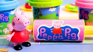 Peppa Pig Mega Dough Set Play Doh Fun Factory Machine Play Dough Treats Cupcakes Toys