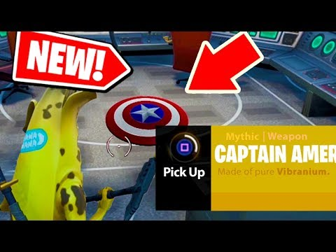 NEW! How to get CAPTAIN AMERICA'S SHIELD from AVENGERS: ENDGAME in Fortnite: Battle Royale