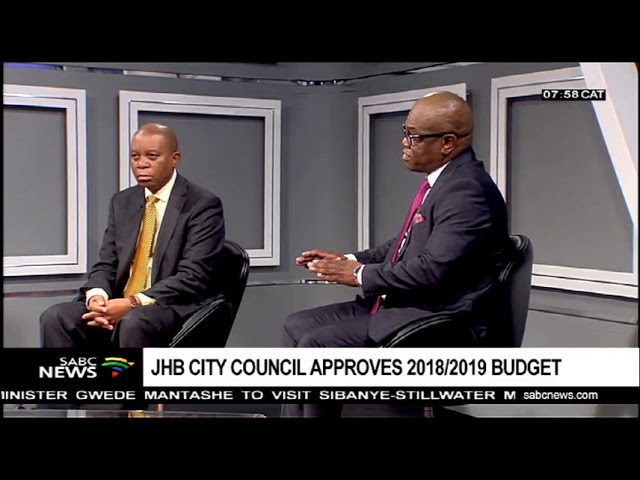 City of Johannesburg Mayor Herman Mashaba has finally tabled his R59-billion budget.