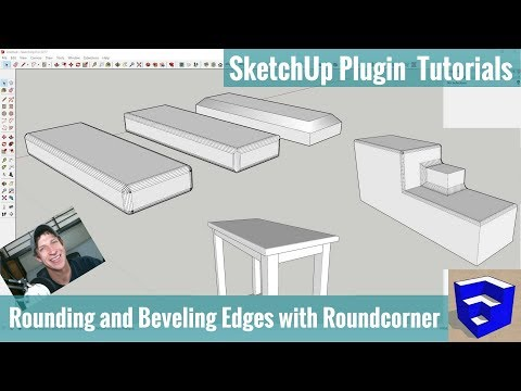 Bevel and Round Corners in SketchUp with Roundcorner - SketchUp Extension Tutorials