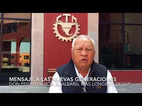 Don Pedro García el albanil más longevo de San Luis Potosí