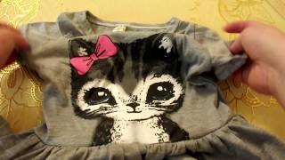 Aliexpress 2017#38✔ Распаковка посылок ✔ Платье детское с котиком  clothing
