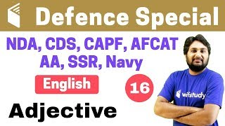 7:00 PM - CDS Crash Course | Defence English by Harsh Sir | Day#16 | Adjective