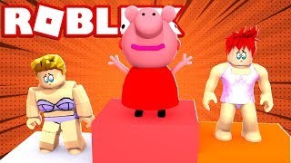 I MAKE EVERYONE VIEW PEPPA PIG in ROBLOX FASHION FAMOUS 😂