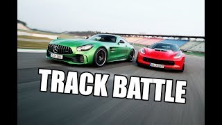 Track Battle Corvette Z06 vs Mercedes-AMG GT-R sport auto