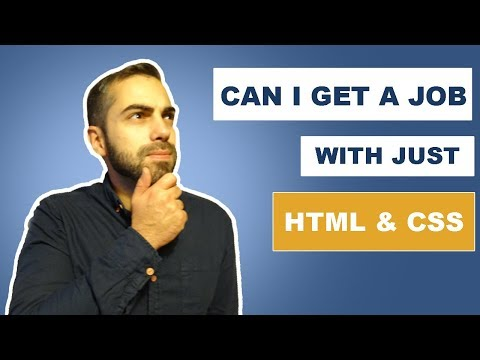 Web Developer Job with just HTML and CSS