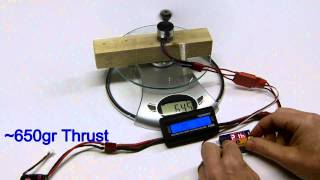 Brushless 2210n - Test Bench And Thrust Measure - Quick And Dirty - 20130324