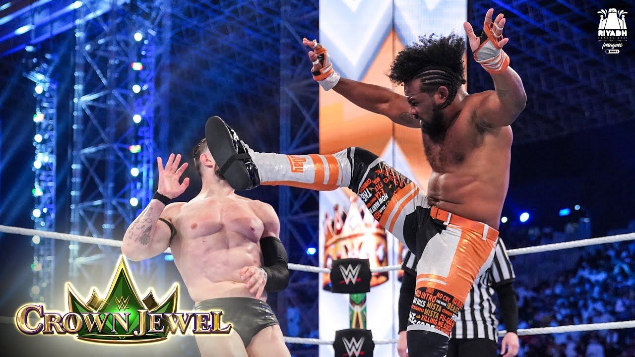 Download Xavier Woods delivers massive Superplex to Finn Bálor: WWE Crown Jewel 2021 (WWE Network Exclusive)