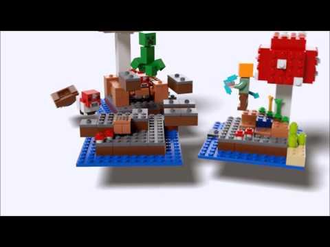 LEGO Minecraft 21129 The Mushroom Island   Dailymotion video Tvh Youtube