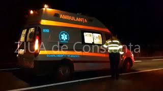 Accident rutier la ieșire din Techirghiol, județul Constanța. Un echipaj SAJ chemat în ajutor