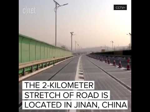 First solar powered highway China