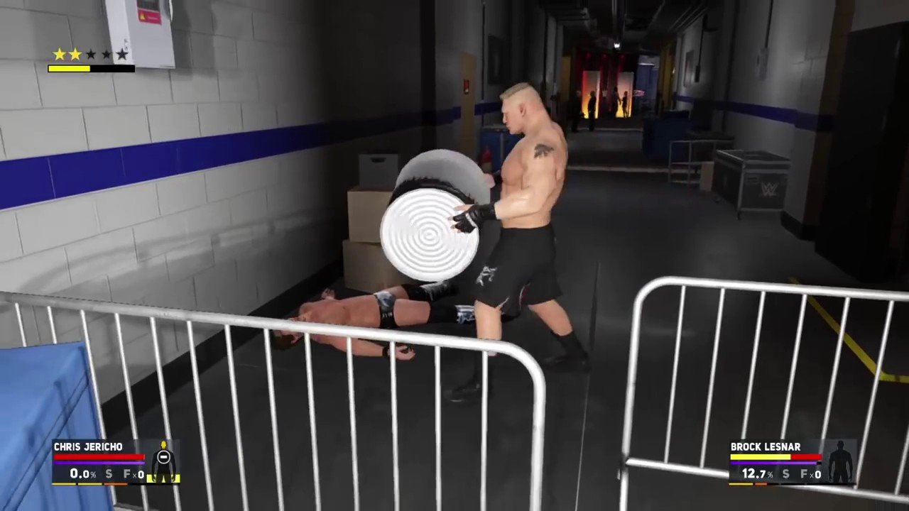 Download WWE 2K17 Chris Jericho   Brock Lesnar Turn to A Real Fight at Backstage Brawl after Summerslam 2016