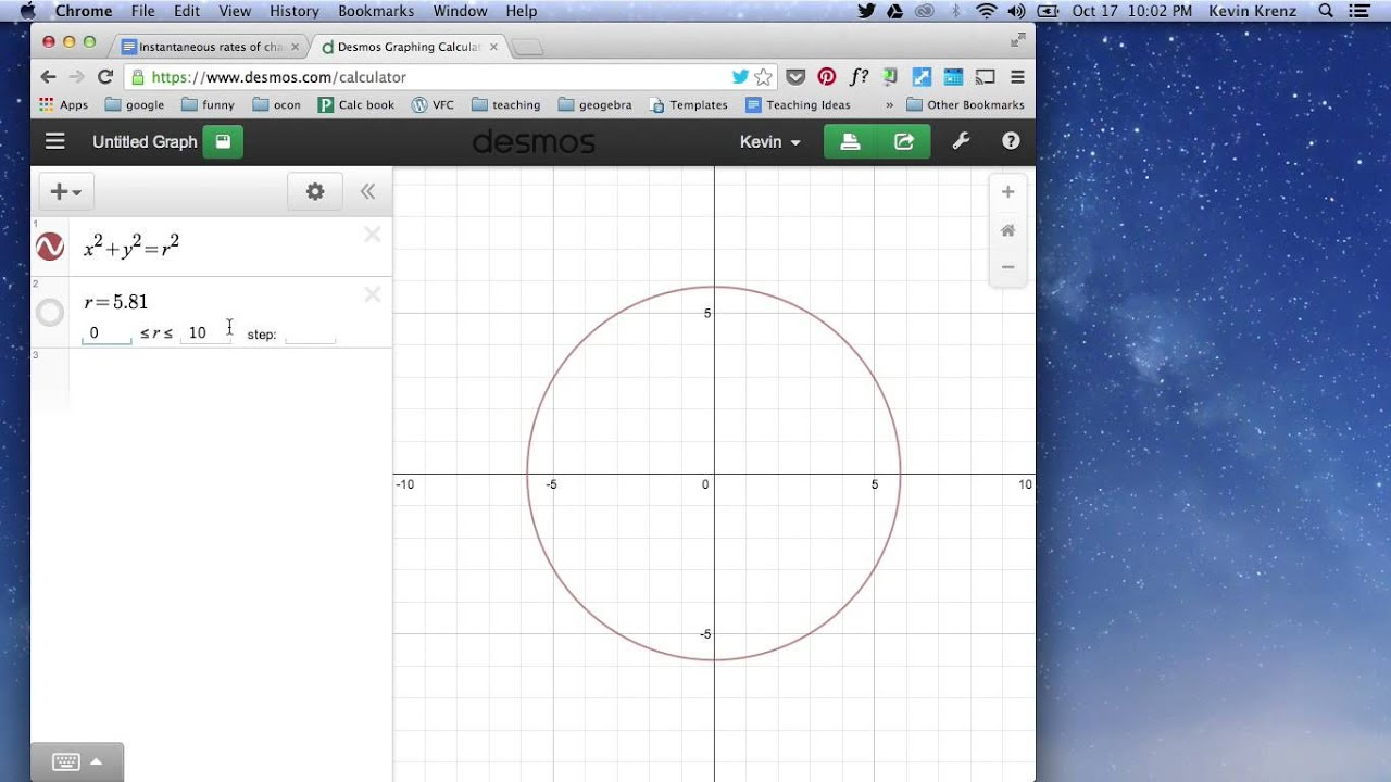 how to work out the carea of a circle