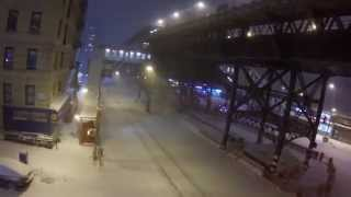1-26-15 Drone Flying Through NYC Snow Storm