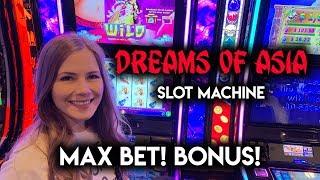 NEW! Dreams of Asia Slot Machine! Max Bet! Great BONUS!