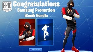 NEW IKONIK SKIN GAMEPLAY + NEW SCENARIO EMOTE SHOWCASE SAMSUNG PROMOTION (Fortnite Battle Royale)
