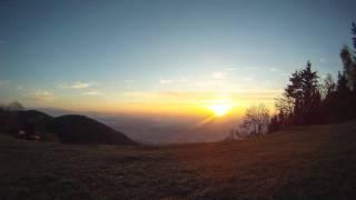 Sunrise over Savinjska dolina - GoPro HD HERO