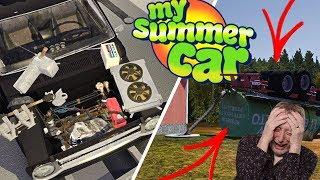 ???? Lajwidło - My Summer Car (Odc 17 S4) Dokończenie remontu auta i ustawienie silnika ???????? - Na żywo