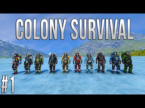 Space Engineers - Colony Survival - Ep #1 - CHAOS!
