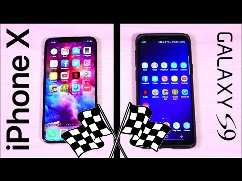 Galaxy S9 Snapdragon 845 vs iPhone X A11 Bionic SPEED Test! OMG!!!