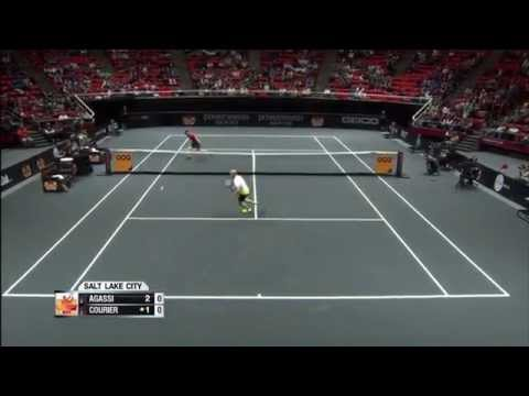 Agassi vs  Courier
