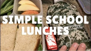 School Lunches | Simple Packed Lunch Ideas